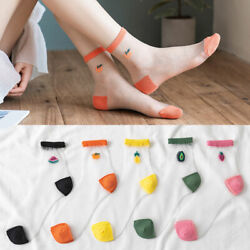 Fruit Print Short Socks Women Socks Summer Ankle Socks Casual Cute Thin Socks $1.99