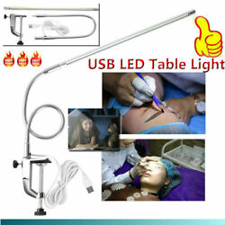 USB Adjustable LED Desk Lamp Clip Table Lamps for Manicure Reading Tattoo Light $25.99