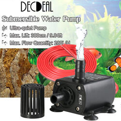 12V DC 5W Small Brushless Pump Waterproof Submersible Pump Water Pump 280L H $9.98