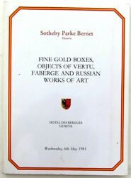 1981 GOLD BOXES FABERGE RUSSIAN ART SOTHEBY AUCTION in GENEVA CATALOG $19.99