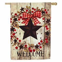 Folk Country Star 13S4643 Evergreen Suede HOUSE Flag 28quot; x 44quot; $22.00