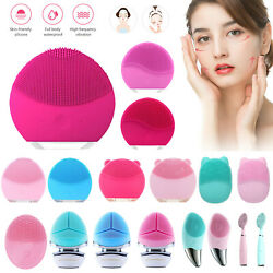 Silicone Electric Face Cleansing Brush Facial Skin Cleaner Cleaning Massager $5.69