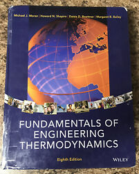 Fundamentals of Engineering Thermodynamics Textbook $85.00