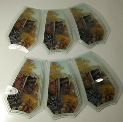 6 Glass Replacement Shades for Touch Me Lamps New OK Lighting Gray#x27;s Mill Bridge $30.40