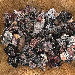 1000 Carat Lots of SNOWFLAKE Obsidian Rough Plus FREE Faceted Gemstone $4.79