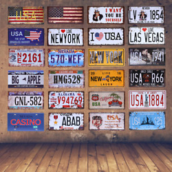Metal License Plate American Vintage Home Decor USA Car Wall Art Number Poster $9.58