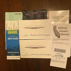 2020 20Chrysler Pacifica & Voyager Owners Manual REFENRENCE GUIDE BOOK CASE SET $16.75