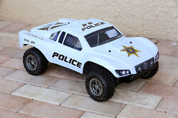Custom Body Police Sheriff White for ARRMA Senton 4x4 3S / 6S BLX Cover Shell $34.98