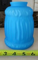 Vintage Glass Lamp Shade Turquoise Satin $14.95