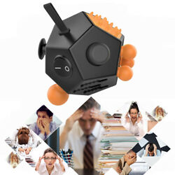 ADULT FIDGET CUBE 12 SIDE SIDED DESK TOY STRESS ANXIETY RELIEF FOCUS PUZZLE WF $7.98