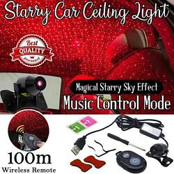 Car Decoration Projector Star Sky Ceiling Light USB LED Interior Atmosphere Lamp $8.55