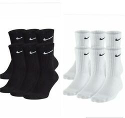 Men Nike Everyday Crew Length Socks with DRI- FIT Technology  1 3 or 6 Pairs $8.99
