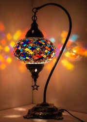 12 Turkish Moroccan Mosaic Bohemian Colorful Table Bedside Lamp Light Lampshade $53.80