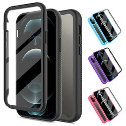 For iPhone SE 2020 7 8 Bumper Case Clear Cover With Built in Screen Protector $8.97