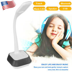 LED Table Desk Reading Lamp Dimmable by Touch Bluetooth Speaker  DC 5V 1A USA $19.92