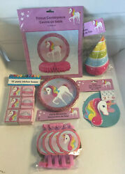 🦄️ Unicorn Party Supplies Birthday Kit For Girls decorations NEW $20.00