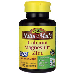 Nature Made Calcium Magnesium Oxide Zinc D3 Tablets 100 Count EXPIRES 12 22 $7.98