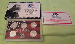 2004 SILVER STATE QUARTER PROOF SET with BOX and COA