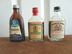 VINTAGE GAG NOVELTY BOTTLES HAWG amp; HAWG PINCH BOTTOM OLD OVERCOAT amp; MAPLEINE I $29.95