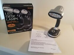 Portable Sierra Electric LED Desk Lamps Adjustable Heads Cordless New Open Box $12.00
