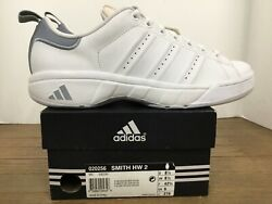 Adidas Smith HW 2 Mens sneaker style#020256 size 9 white silver quot;vintagequot; $95.00
