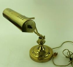 Brass READER Piano Banker Table Desk Lamp Office Writing Mid Century Style $29.99