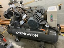 Kyungwon AR10 10HP Reciprocating Two Stage Air Compressor 220V 240liter Tank