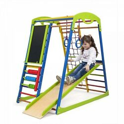 Kid's Baby children wood slide  playground set Indoor Training Gym Sport