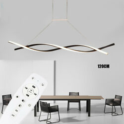 Modern Curved LED Pendant Lamp Kitchen Wavy Chandelier Ceiling Lighting Fixture