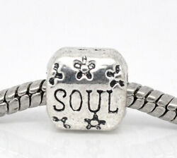 SOUL Flower Charms 5 10 20 European Style Word Message Yoga Boho DIY Jewelry $11.99