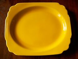 Vintage Homer Laughlin Fiesta Riviera Yellow medium platter $22.00