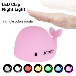 7 Color Changing Rechargeable Silicone Dolphin Night Light  Bedside Gift Lamp US $5.99