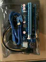 1X to 16X PCI E Riser VER006C 6Pin USB 3.0 Graphic Card Extension Power Cable $1.50