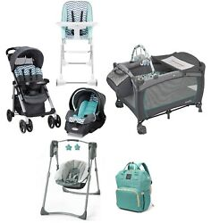 Infant Combo Playard Swing Chair Baby Stroller with Car Seat Travel System Set $549.99
