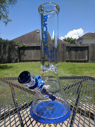 Glass Beaker Water Pipe Bong Phoenix 12quot; Inches Tall amp; 9mm Extra Thick Blue $78.85