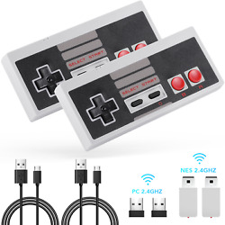 AGPTEK 2 Pack NES Wireless Controller Nintendo Classic Mini Edition and PC $25.69