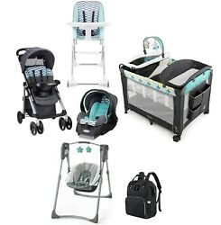Evenflo Travel System Baby Combo Stroller with Car Seat Playard Swing Chair Bag $559.99