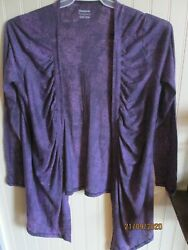 #. REEBOK TOP LADIES OVER BLOUSE KNIT TOP PURPLE SIZE M   NWT $13.00