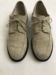J. FENESTRIER for Barneys New York Beige Suede Leather French Shoes Men's Sz 12 $84.95