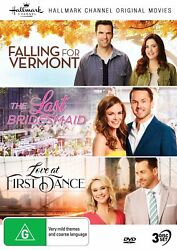 HALLMARK 3 Film Collection (Reg Free) DVD Falling for Vermont Last Bridesmaid