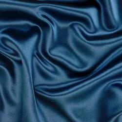 Magic Blue Silk Blend Satin Home Decorating Fabric Fabric By The Yard $27.45