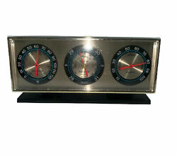Springfield Instrument Co Desk Barometer Thermometer Humidity Gauge VINTAGE $34.95