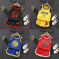 Summer Kids Baby Boys Basketball Clothes Child Boy Sports Outfits Sets Clothes $8.49