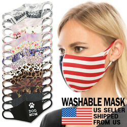 Washable Face Mask - Unisex Adult Breathable Reusable Spandex 3D Stretch Fabric $8.75