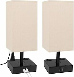 3 way Dimmable Touch Control Table Lamp Dicoool Bedside Lamp with 2 USB Ports $44.92