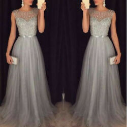 Women Wedding Bridesmaid Long Evening Party Ball Prom Gown Cocktail Dress S-XL  $10.60