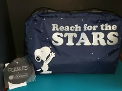 Snoopy LeSportsac Extra Large Reach For The Stars Clutch Pouch Cosmetic Bag-NWT! $49.00