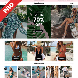 SWIMWEAR STORE  Automated DROPSHIPPING Store  Website Business For Sale $129.00