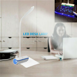 LED Desk Lamp Reading Light Table Dimmable Flexible Rechargeable Touch Control $5.39