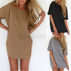 US Stock Zanzea Women Summer Loose Top T-Shirt Casual Short Sleeve Shirt Blouse $10.99